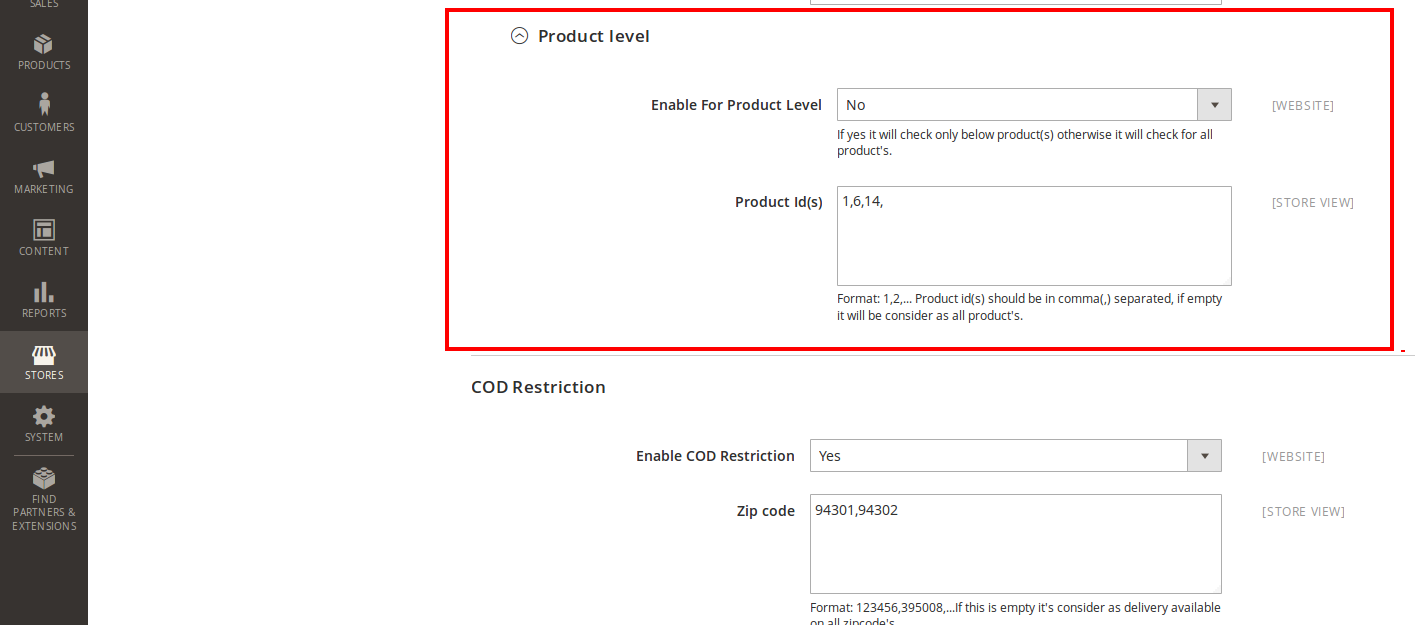 Magento Restrict Shipping and Cash on Delivery for a location